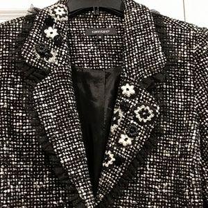 Adorable Karen Kane embellished tweed blazer